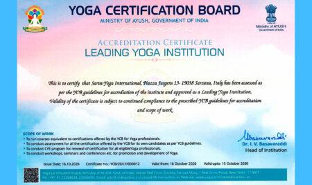 Sarva Yoga International fra le 12 più importanti associazioni yoga del mondo e la prima non indiana